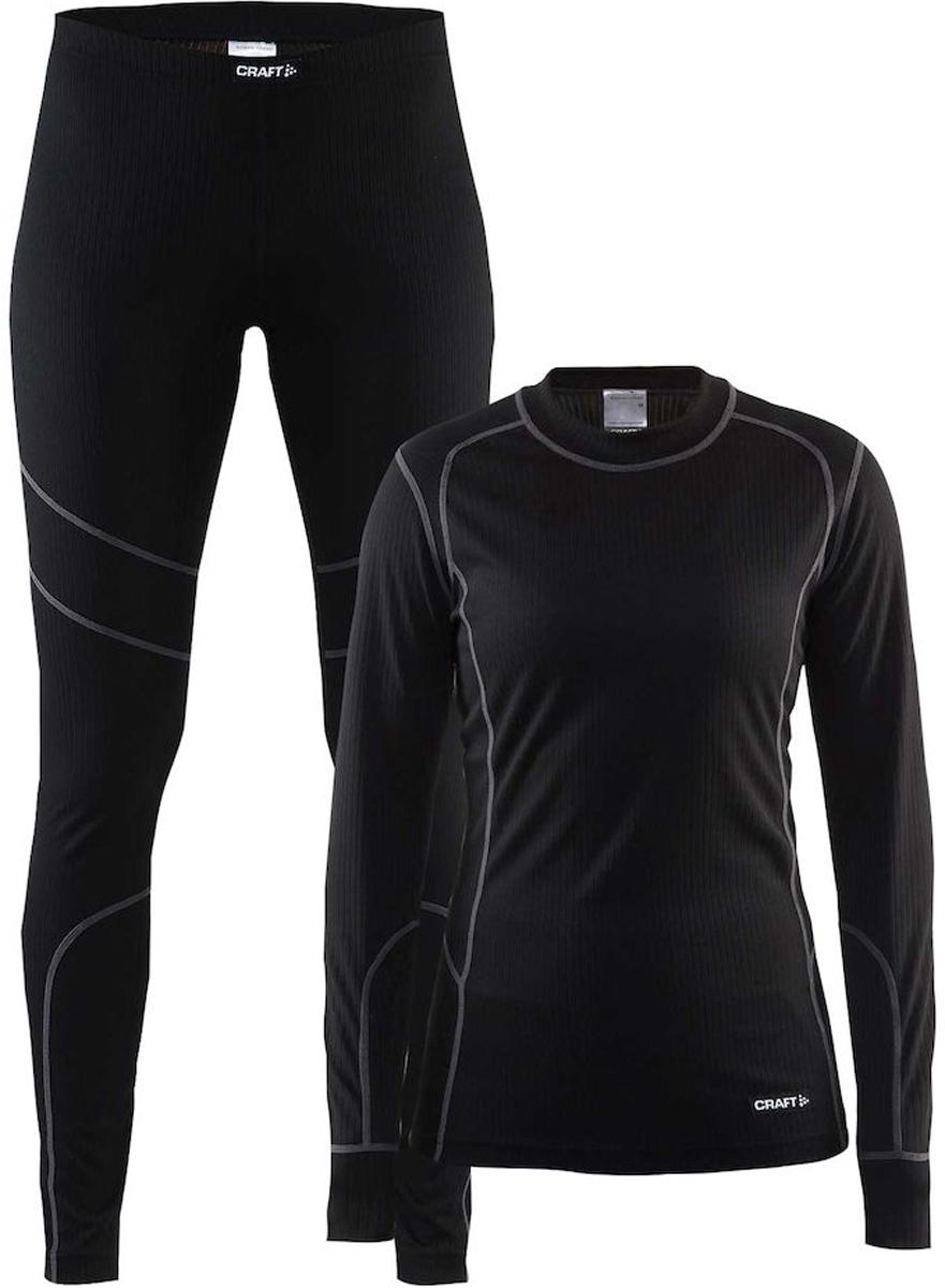 Комплект термобелья женский: брюки и кофта Craft Baselayer, цвет: черный. 1905331/999985. Размер XS (42)1905331/999985