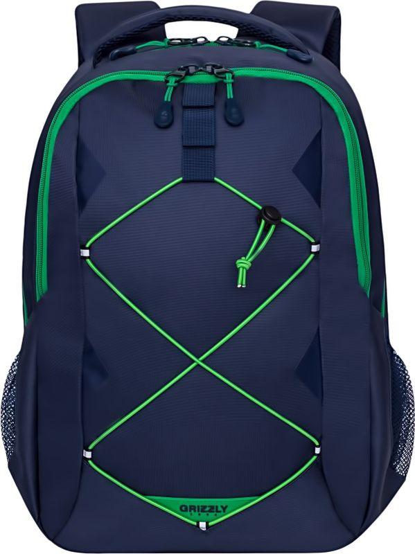 Рюкзак молодежный Grizzly, 16 л. RU-808-2/3RU-808-2/3Рюкзак молодежный Grizzly - лаконичная и очень удобная модель, в которую поместится все: школьные принадлежности и завтрак, одежда, ноутбук и многое другое. Рюкзак, выполненный из нейлона, имеет два отделения, на передней стенке стяжка-шнур,боковые карманы из сетки, внутренний карман для электронных устройств, внутренний составной пенал-органайзер. Благодаря текстильной ручке рюкзак можно повесить, а подвесная система позволяет регулировать лямки и тем самым адаптировать изделие под рост владельца.