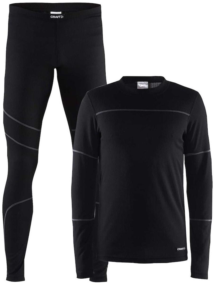Комплект термобелья мужской: брюки и кофта Craft Baselayer, цвет: черный. 1905332/999985. Размер XS (44)1905332/999985