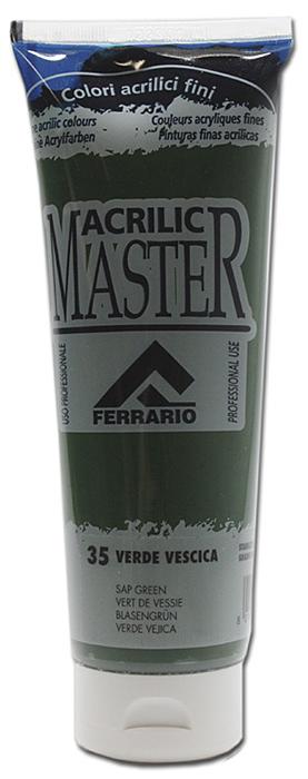 Ferrario Краска акриловая Acrilic Master цвет №35 сочная зелень 250 мл BM0978B0035BM0978B0035Акриловые краски серии ACRILIC MASTER итальянской компании Ferrario. Универсальны в применении, так как хорошо ложатся на любую обезжиренную поверхность: бумага, холст, картон, дерево, керамика, пластик. При изготовлении красок используются высококачественные пигменты мелкого помола. Краска быстро сохнет, обладает отличной укрывистостью и насыщенностью цвета. Работы, сделанные с помощью ACRILIC MASTER, не тускнеют и не выгорают на солнце. Все цвета отлично смешиваются между собой и при необходимости разбавляются водой. Для достижения необходимых эффектов применяют различные медиумы для акриловой живописи. В серии представлено 50 цветов.