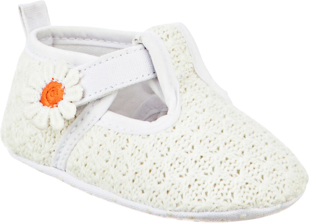Пинетки детские Kapika, цвет: белый. 10121. Размер 1810121