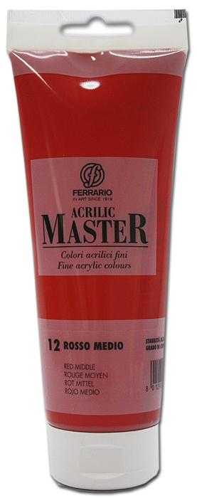 Ferrario Краска акриловая Acrilic Master цвет №12 оранжевый средний 250 млBM0978B0012Акриловые краски серии ACRILIC MASTER итальянской компании Ferrario. Универсальны в применении, так как хорошо ложатся на любую обезжиренную поверхность: бумага, холст, картон, дерево, керамика, пластик. При изготовлении красок используются высококачественные пигменты мелкого помола. Краска быстро сохнет, обладает отличной укрывистостью и насыщенностью цвета. Работы, сделанные с помощью ACRILIC MASTER, не тускнеют и не выгорают на солнце. Все цвета отлично смешиваются между собой и при необходимости разбавляются водой. Для достижения необходимых эффектов применяют различные медиумы для акриловой живописи. В серии представлено 50 цветов.