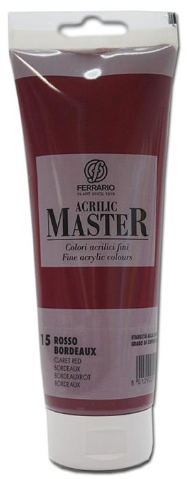 Ferrario Краска акриловая Acrilic Master цвет №15 бордовый BM0978B0015BM0978B0015Акриловые краски серии ACRILIC MASTER итальянской компании Ferrario. Универсальны в применении, так как хорошо ложатся на любую обезжиренную поверхность: бумага, холст, картон, дерево, керамика, пластик. При изготовлении красок используются высококачественные пигменты мелкого помола. Краска быстро сохнет, обладает отличной укрывистостью и насыщенностью цвета. Работы, сделанные с помощью ACRILIC MASTER, не тускнеют и не выгорают на солнце. Все цвета отлично смешиваются между собой и при необходимости разбавляются водой. Для достижения необходимых эффектов применяют различные медиумы для акриловой живописи. В серии представлено 50 цветов.