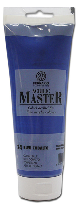 Ferrario Краска акриловая Acrilic Master цвет №24 кобальт синий 250 мл BM0978B0024BM0978B0024Акриловые краски серии ACRILIC MASTER итальянской компании Ferrario. Универсальны в применении, так как хорошо ложатся на любую обезжиренную поверхность: бумага, холст, картон, дерево, керамика, пластик. При изготовлении красок используются высококачественные пигменты мелкого помола. Краска быстро сохнет, обладает отличной укрывистостью и насыщенностью цвета. Работы, сделанные с помощью ACRILIC MASTER, не тускнеют и не выгорают на солнце. Все цвета отлично смешиваются между собой и при необходимости разбавляются водой. Для достижения необходимых эффектов применяют различные медиумы для акриловой живописи. В серии представлено 50 цветов.