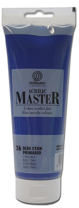 Ferrario Краска акриловая Acrilic Master цвет №26 сине-голубой 250 мл BM0978B0026BM0978B0026Акриловые краски серии ACRILIC MASTER итальянской компании Ferrario. Универсальны в применении, так как хорошо ложатся на любую обезжиренную поверхность: бумага, холст, картон, дерево, керамика, пластик. При изготовлении красок используются высококачественные пигменты мелкого помола. Краска быстро сохнет, обладает отличной укрывистостью и насыщенностью цвета. Работы, сделанные с помощью ACRILIC MASTER, не тускнеют и не выгорают на солнце. Все цвета отлично смешиваются между собой и при необходимости разбавляются водой. Для достижения необходимых эффектов применяют различные медиумы для акриловой живописи. В серии представлено 50 цветов.