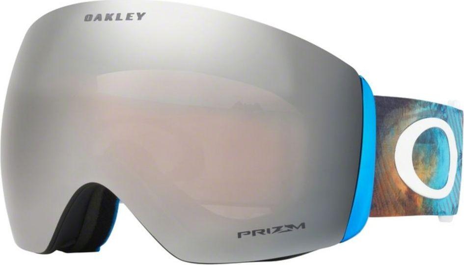 Маска горнолыжная Oakley Flight Deck, цвет: стальной, белый oakley маска oakley wind jacket 2 0