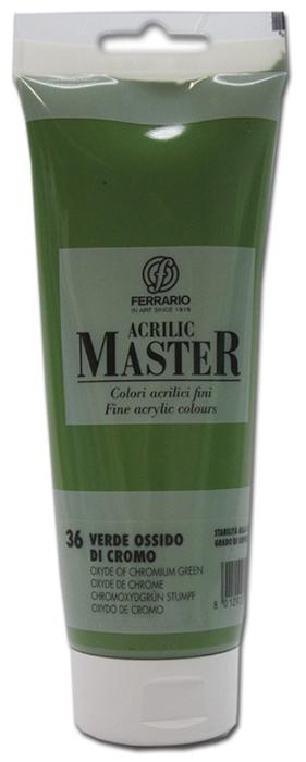 Ferrario Краска акриловая Acrilic Master цвет №36 оксид хрома 250 мл BM0978B0036BM0978B0036Акриловые краски серии ACRILIC MASTER итальянской компании Ferrario. Универсальны в применении, так как хорошо ложатся на любую обезжиренную поверхность: бумага, холст, картон, дерево, керамика, пластик. При изготовлении красок используются высококачественные пигменты мелкого помола. Краска быстро сохнет, обладает отличной укрывистостью и насыщенностью цвета. Работы, сделанные с помощью ACRILIC MASTER, не тускнеют и не выгорают на солнце. Все цвета отлично смешиваются между собой и при необходимости разбавляются водой. Для достижения необходимых эффектов применяют различные медиумы для акриловой живописи. В серии представлено 50 цветов.