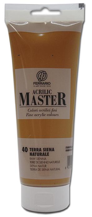 Ferrario Краска акриловая Acrilic Master цвет №40 сиена натуральная 250 мл BM0978B0040BM0978B0040Акриловые краски серии ACRILIC MASTER итальянской компании Ferrario. Универсальны в применении, так как хорошо ложатся на любую обезжиренную поверхность: бумага, холст, картон, дерево, керамика, пластик. При изготовлении красок используются высококачественные пигменты мелкого помола. Краска быстро сохнет, обладает отличной укрывистостью и насыщенностью цвета. Работы, сделанные с помощью ACRILIC MASTER, не тускнеют и не выгорают на солнце. Все цвета отлично смешиваются между собой и при необходимости разбавляются водой. Для достижения необходимых эффектов применяют различные медиумы для акриловой живописи. В серии представлено 50 цветов.