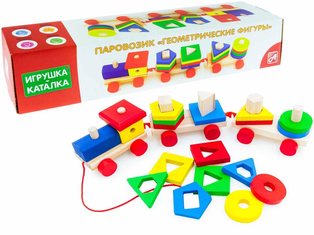 Анданте Обучающая игра Паровозик-каталка Геометрические фигуры