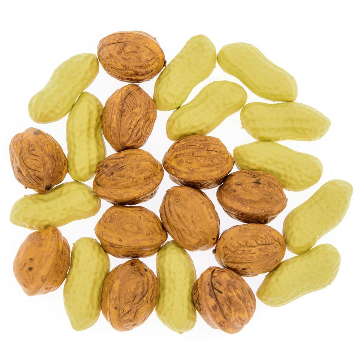 Анданте Счетный материал Орешки Ассорти 24 элемента золотые орешки на свадьбу