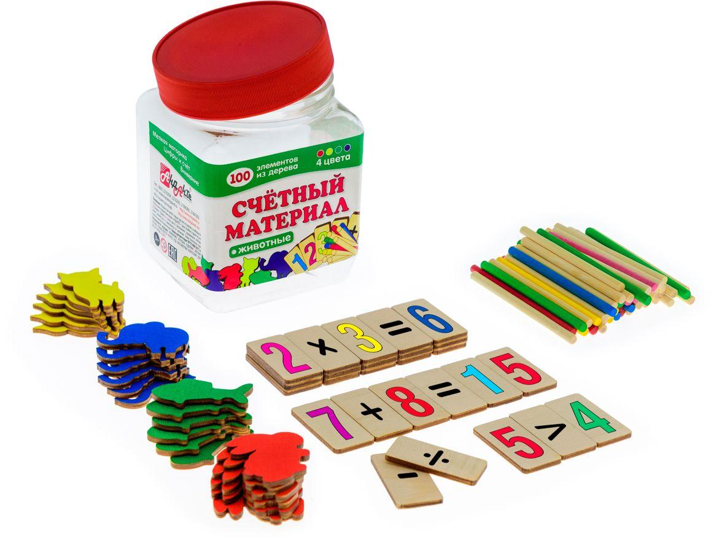 Анданте Счетный материал Животные 100 элементов счетный материал радужки счетные палочки из eva набор 48 штук
