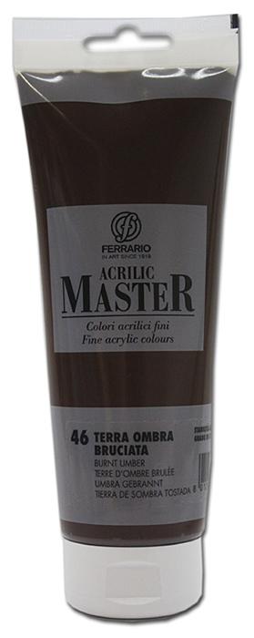 Ferrario Краска акриловая Acrilic Master цвет №46 умбра жженая BM0978B0046BM0978B0046Акриловые краски серии ACRILIC MASTER итальянской компании Ferrario. Универсальны в применении, так как хорошо ложатся на любую обезжиренную поверхность: бумага, холст, картон, дерево, керамика, пластик. При изготовлении красок используются высококачественные пигменты мелкого помола. Краска быстро сохнет, обладает отличной укрывистостью и насыщенностью цвета. Работы, сделанные с помощью ACRILIC MASTER, не тускнеют и не выгорают на солнце. Все цвета отлично смешиваются между собой и при необходимости разбавляются водой. Для достижения необходимых эффектов применяют различные медиумы для акриловой живописи. В серии представлено 50 цветов.