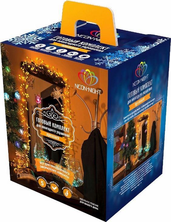Комплект Neon-Night Прихожая, для новогоднего украшения дома, цвет гирлянд: желтый. 500-041500-041Не секрет, что самое хлопотное время в году - предновогоднее. Люди тратят массу времени и сил на поиск подарков для своих родных, близких, коллег и друзей. Подчас просто не остается времени на украшение дома и создание того самого желанного предновогоднего настроения. Специально для Вас мы разработали готовые решения для оформления каждой комнаты в доме, что значительно упростит процесс поиска и подбора украшений. Каждый из комплектов по-своему уникален, он содержит различные цветовые решения, которые подойдут для любого интерьера. Прихожая – это место, которое видим первым делом, входя в квартиру. И, конечно же, оно должно быть украшено, как и прочие помещения для создания праздничной атмосферы. Независимо от количества свободного места, Вы сможете с легкостью освежить вашу прихожую.В этот комплект мы включили:- Гирлянду Мишура. Яркая и эффектная гирлянда, имеющая самое большое количество светодиодов для своей длины по сравнению с другими гирляндами (288 шт/3 м), станет отличным обрамлением вашего зеркала.- Универсальную интерьерную гирлянду Роса длиной 2м. Ее часто используют декораторы для украшения цветочных композиций и не только, так как сама гирлянда не боится воды (кроме батарейного блока, который можно спрятать за вазой).- Три светящиеся фигурки на присоске. Их можно разместить на любой гладкой поверхности, например на зеркале. Особенность таких фигурок - смена цвета свечения в пределах 256 цветов. Производитель ценит ваше время, поэтому набор уже укомплектован всеми необходимыми батарейками. Подарите новогоднее настроение себе и близким, украсив прихожую всего за 10 минут!