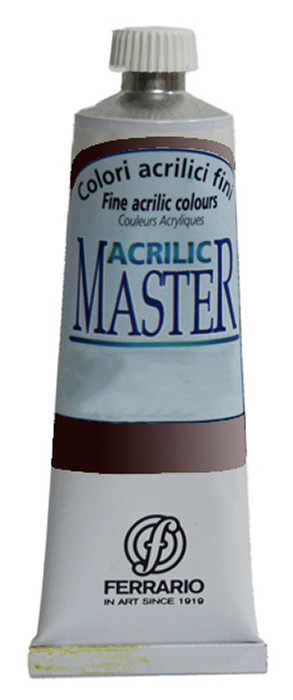 Ferrario Краска акриловая Acrilic Master цвет №49 марс черныйBM09760CO49Акриловые краски серии ACRILIC MASTER итальянской компании Ferrario. Универсальны в применении, так как хорошо ложатся на любую обезжиренную поверхность: бумага, холст, картон, дерево, керамика, пластик. При изготовлении красок используются высококачественные пигменты мелкого помола. Краска быстро сохнет, обладает отличной укрывистостью и насыщенностью цвета. Работы, сделанные с помощью ACRILIC MASTER, не тускнеют и не выгорают на солнце. Все цвета отлично смешиваются между собой и при необходимости разбавляются водой. Для достижения необходимых эффектов применяют различные медиумы для акриловой живописи. В серии представлено 50 цветов.