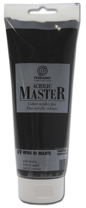 Ferrario Краска акриловая Acrilic Master цвет №49 черный Марс BM0978B0049BM0978B0049Акриловые краски серии ACRILIC MASTER итальянской компании Ferrario. Универсальны в применении, так как хорошо ложатся на любую обезжиренную поверхность: бумага, холст, картон, дерево, керамика, пластик. При изготовлении красок используются высококачественные пигменты мелкого помола. Краска быстро сохнет, обладает отличной укрывистостью и насыщенностью цвета. Работы, сделанные с помощью ACRILIC MASTER, не тускнеют и не выгорают на солнце. Все цвета отлично смешиваются между собой и при необходимости разбавляются водой. Для достижения необходимых эффектов применяют различные медиумы для акриловой живописи. В серии представлено 50 цветов.