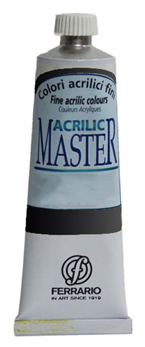 Ferrario Краска акриловая Acrilic Master цвет №50 глубокий черный BM09760CO50BM09760CO50Акриловые краски серии ACRILIC MASTER итальянской компании Ferrario. Универсальны в применении, так как хорошо ложатся на любую обезжиренную поверхность: бумага, холст, картон, дерево, керамика, пластик. При изготовлении красок используются высококачественные пигменты мелкого помола. Краска быстро сохнет, обладает отличной укрывистостью и насыщенностью цвета. Работы, сделанные с помощью ACRILIC MASTER, не тускнеют и не выгорают на солнце. Все цвета отлично смешиваются между собой и при необходимости разбавляются водой. Для достижения необходимых эффектов применяют различные медиумы для акриловой живописи. В серии представлено 50 цветов.