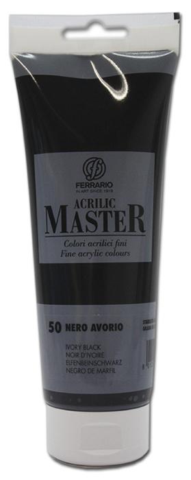 Ferrario Краска акриловая Acrilic Master цвет №50 глубокий черный BM0978B0050BM0978B0050Акриловые краски серии ACRILIC MASTER итальянской компании Ferrario. Универсальны в применении, так как хорошо ложатся на любую обезжиренную поверхность: бумага, холст, картон, дерево, керамика, пластик. При изготовлении красок используются высококачественные пигменты мелкого помола. Краска быстро сохнет, обладает отличной укрывистостью и насыщенностью цвета. Работы, сделанные с помощью ACRILIC MASTER, не тускнеют и не выгорают на солнце. Все цвета отлично смешиваются между собой и при необходимости разбавляются водой. Для достижения необходимых эффектов применяют различные медиумы для акриловой живописи. В серии представлено 50 цветов.