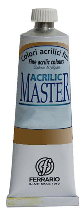 Ferrario Краска акриловая Acrilic Master цвет №52 золото BM09760CO52BM09760CO52Акриловые краски серии ACRILIC MASTER итальянской компании Ferrario. Универсальны в применении, так как хорошо ложатся на любую обезжиренную поверхность: бумага, холст, картон, дерево, керамика, пластик. При изготовлении красок используются высококачественные пигменты мелкого помола. Краска быстро сохнет, обладает отличной укрывистостью и насыщенностью цвета. Работы, сделанные с помощью ACRILIC MASTER, не тускнеют и не выгорают на солнце. Все цвета отлично смешиваются между собой и при необходимости разбавляются водой. Для достижения необходимых эффектов применяют различные медиумы для акриловой живописи. В серии представлено 50 цветов.