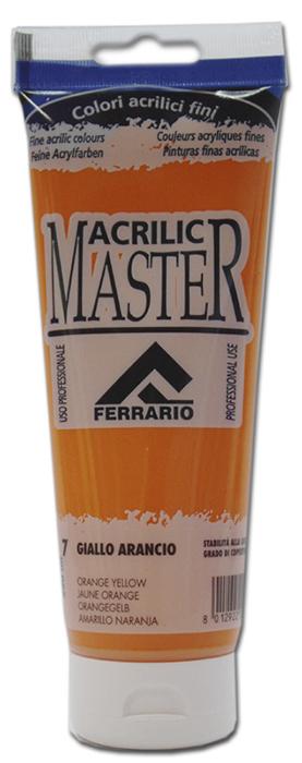 Ferrario Краска акриловая Acrilic Master цвет №6 желто-оранжевыйBM0978B0007Акриловые краски серии ACRILIC MASTER итальянской компании Ferrario. Универсальны в применении, так как хорошо ложатся на любую обезжиренную поверхность: бумага, холст, картон, дерево, керамика, пластик. При изготовлении красок используются высококачественные пигменты мелкого помола. Краска быстро сохнет, обладает отличной укрывистостью и насыщенностью цвета. Работы, сделанные с помощью ACRILIC MASTER, не тускнеют и не выгорают на солнце. Все цвета отлично смешиваются между собой и при необходимости разбавляются водой. Для достижения необходимых эффектов применяют различные медиумы для акриловой живописи. В серии представлено 50 цветов.
