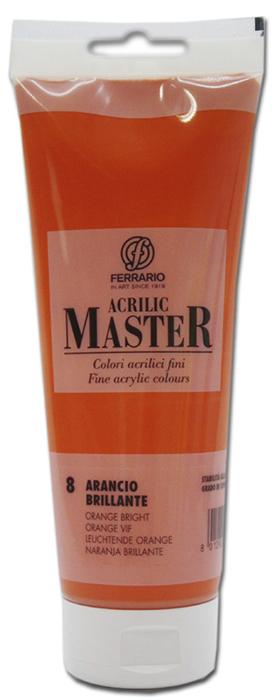 Ferrario Краска акриловая Acrilic Master цвет №8 оранжевый яркийBM0978B0008Акриловые краски серии ACRILIC MASTER итальянской компании Ferrario. Универсальны в применении, так как хорошо ложатся на любую обезжиренную поверхность: бумага, холст, картон, дерево, керамика, пластик. При изготовлении красок используются высококачественные пигменты мелкого помола. Краска быстро сохнет, обладает отличной укрывистостью и насыщенностью цвета. Работы, сделанные с помощью ACRILIC MASTER, не тускнеют и не выгорают на солнце. Все цвета отлично смешиваются между собой и при необходимости разбавляются водой. Для достижения необходимых эффектов применяют различные медиумы для акриловой живописи. В серии представлено 50 цветов.