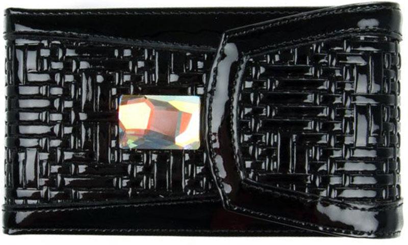 Визитница женская Krystall, цвет: черный. 0-475(СВ)