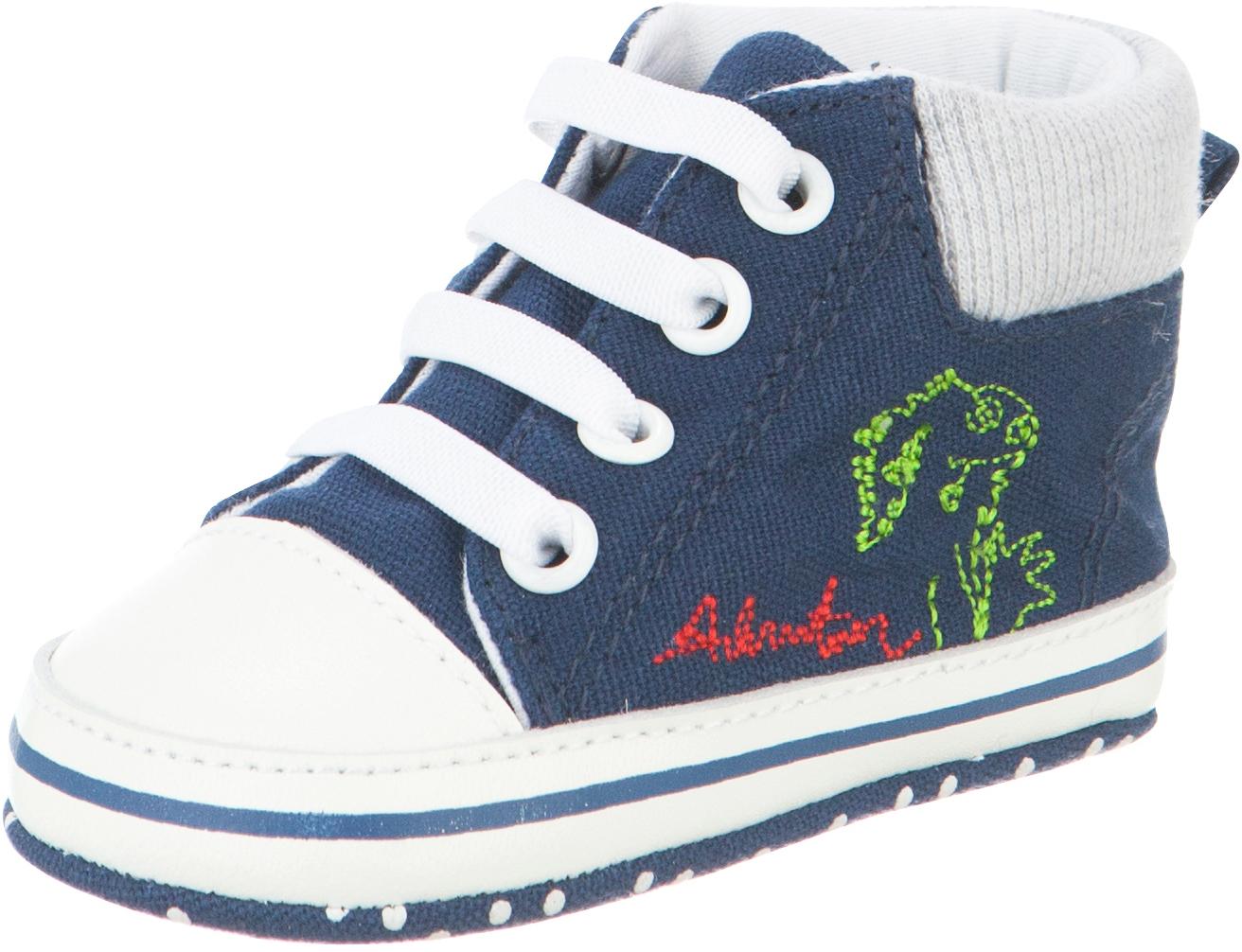 Пинетки детские Kapika, цвет: синий. 10129. Размер 1610129Стильные и модные пинетки от Kapika великолепно дополнят наряд вашего малыша. В них он будет чувствовать себя комфортно и непринужденно. Пинетки в виде кед выполнены из хлопкового текстиля.Милые, нежные и удобные детские пинетки станут любимой обувью маленького непоседы.