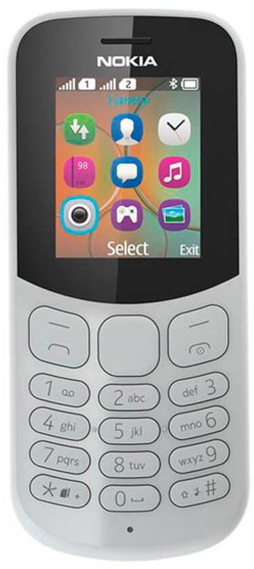 Nokia 130 Dual Sim, Grey - Мобильные телефоны