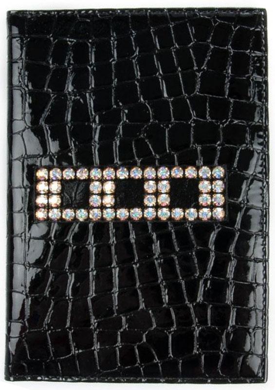 Обложка для автодокументов женская Krystall, цвет: черный. 0-503(СВ)0-503(СВ) крОригинальные кристаллы Swarovski.