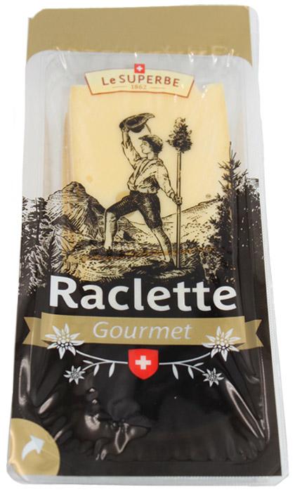 Le Superb Сыр Раклет нарезка, 200 гМС-00003341Сыр Raclette премиум-класса не только нежный и тающий, но иобладающий тонким запахом костра и приятной сладостью.Идеально подходит для приготовления швейцарскогонационального блюда Раклет с плавленым сыром.Большие куски сыра ставят возле огня или на специальнойэлектрической раклетнице, и плавящийся сыр каждый изприсутствующих за трапезой соскребает специальным ножом себена тарелку, чтобы съесть его с печеной картошкой, маринованнымиогурцами и луком.Традиционно Раклет подают с белым виномсорта Фендан, которое также делают в кантоне Вале.Период созревания - 5 месяцев.пищевая ценность на 100 г:Энергетическая ценность: 356 ккал.Белки: 26 г.Жиры: 28 г.
