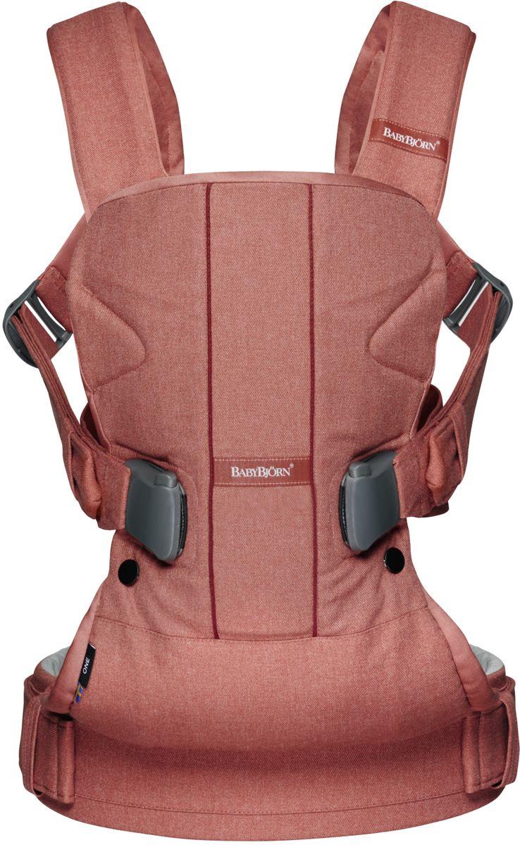 BabyBjorn Рюкзак для переноски ребенка One Soft Cotton Mix цвет терракотовый - Рюкзаки, слинги, кенгуру