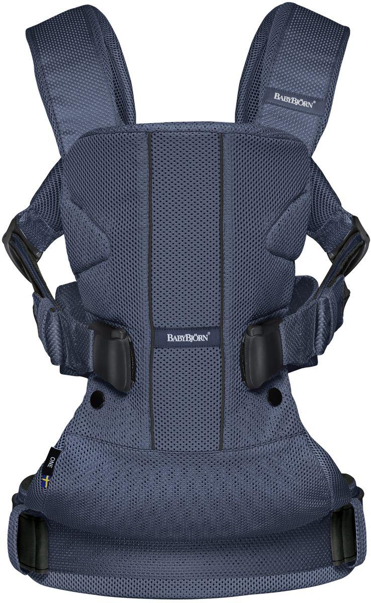 BabyBjorn Рюкзак для переноски ребенка One Soft Cotton Mix цвет темно-синий - Рюкзаки, слинги, кенгуру