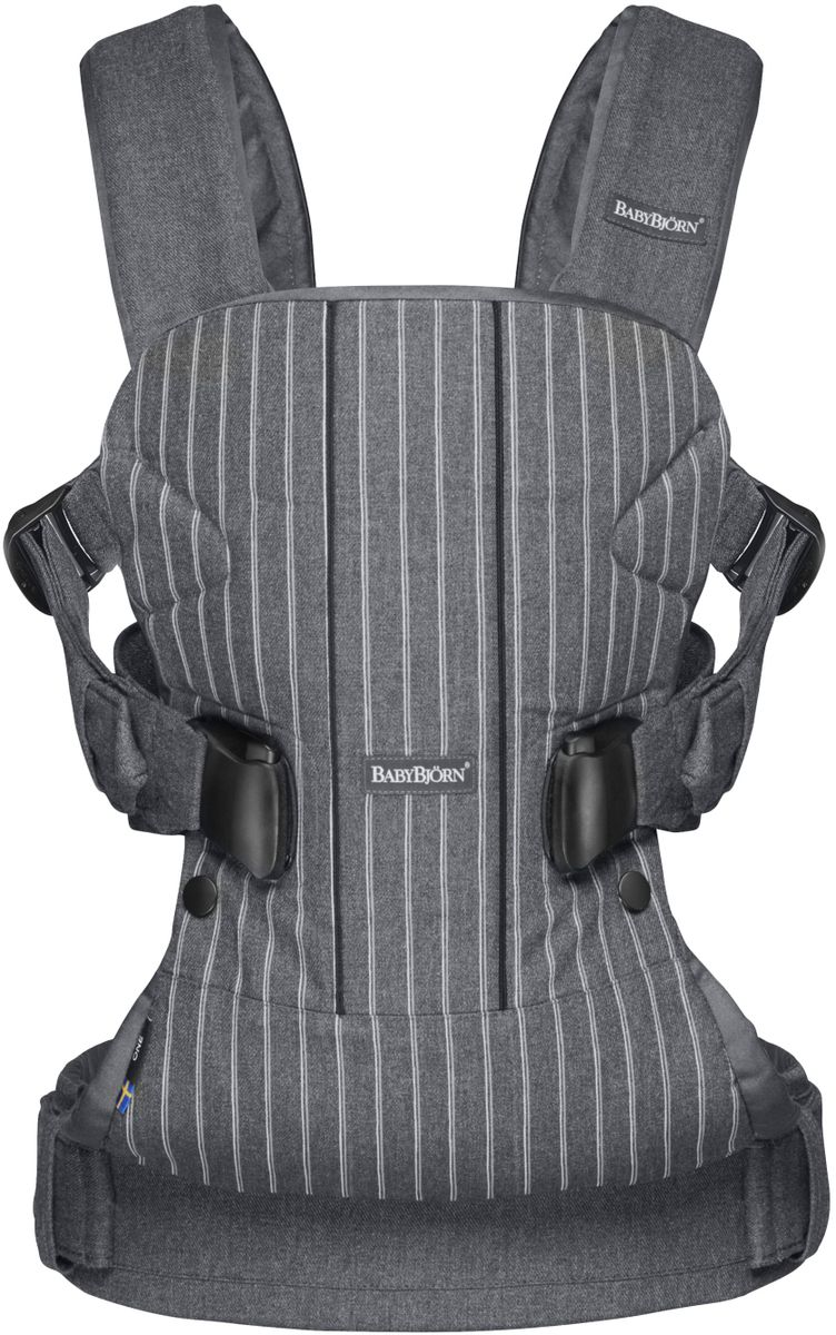 BabyBjorn Рюкзак для переноски ребенка One Soft Cotton Mix цвет серый белый - Рюкзаки, слинги, кенгуру