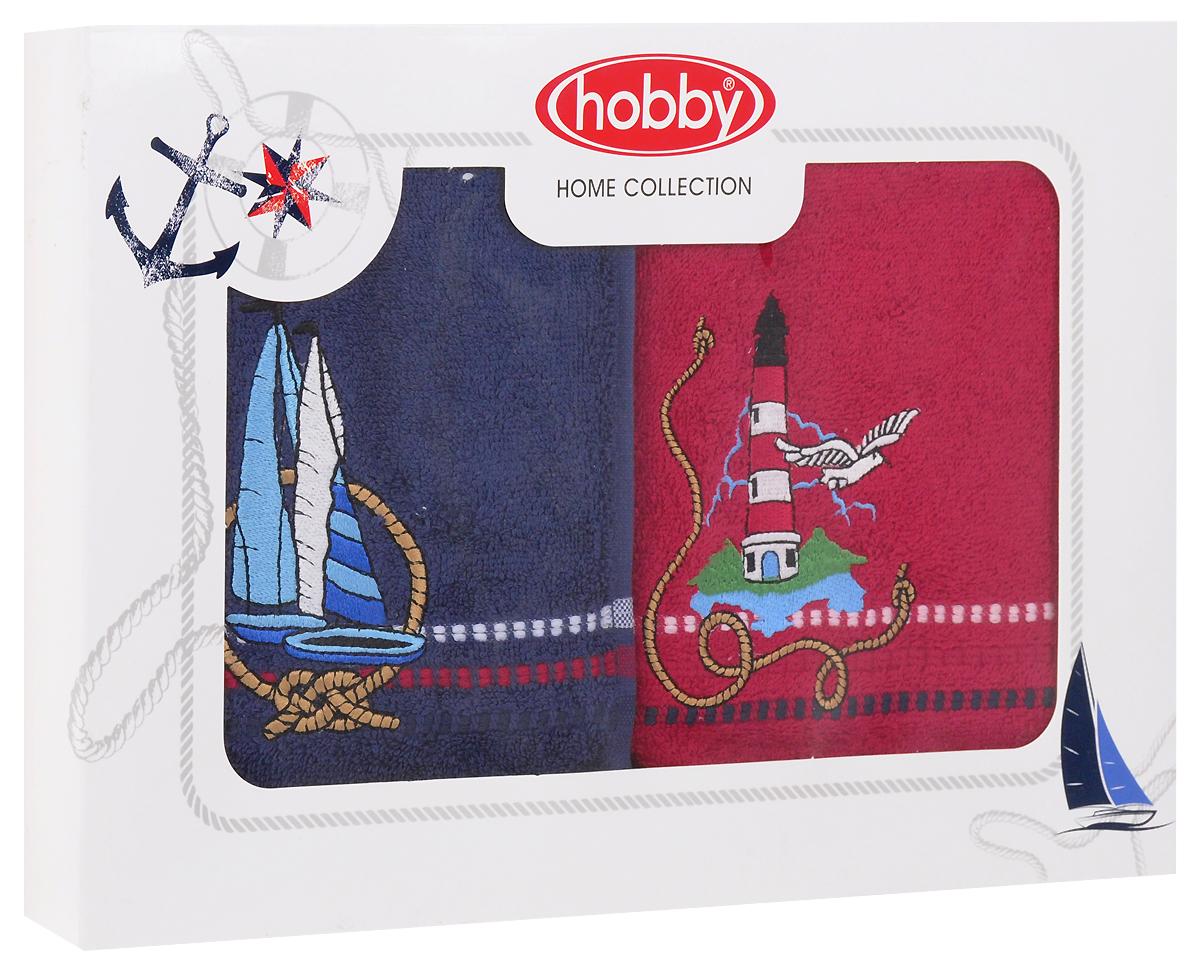 Полотенце махровое Hobby Home Collection Marina, цвет: красный, синий, 50х90 см, 2 шт1501001061Полотенца марки Хобби уникальны и разрабатываются эксклюзивно для данной марки. При создании коллекции используются самые высокотехнологичные ткацкие приемы. Дизайнеры марки украшают вещи изысканным декором. Коллекция линии соответствует актуальным тенденциям, диктуемым мировыми подиумами и модой в области домашнего текстиля.Уважаемые клиенты! Обращаем ваше внимание на то, что упаковка может иметь несколько видов дизайна. Поставка осуществляется в зависимости от наличия на складе.