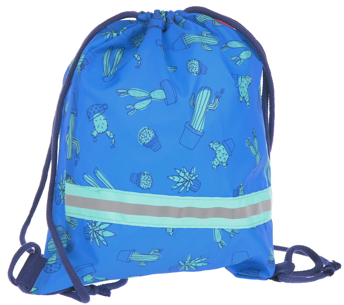 Мешок детский Reisenthel, цвет: голубой. IC4049IC4049Детский мешок с универсальным применением! Пригодится для поездок за город и путешествий, а также тем, кто посещает спортивные секции и кружки. Подойдет для хранения сменки в школе, тем более, что он легко и быстро затягивается с помощью шнурков. Эти же шнурки используются в качестве лямок: можно перекинуть их через плечо, а можно просто нести в руке. Внутри находится специальная плашка, куда можно вписать имя ребенка. Светоотражающие элементы обеспечат дополнительную безопасность на улице. Материал: прочный водоотталкивающий полиэстер премиум класса. Объем - 5 л.