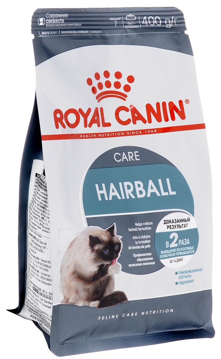 Корм сухой Royal Canin Intense Hairball 34, для полудлинношерстных взрослых кошек, 400 г58062Сухой корм Royal Canin Intense Hairball 34 - это полноценное и сбалансированное питание, помогающее выводить комочки шерсти из желудка кошки. Доказанная эффективность. При кормлении исключительно данным рационом из пищеварительного тракта кошки выводится вдвое больше шерсти; этот эффект заметен уже через 21 день. Эвакуация естественным путем. Подорожник, богатый волокнами (растительным клеем) в сочетании с тонкоизмельченной клетчаткой стимулирует транзит пищи по кишечнику. Шерсть не скапливается в желудке и не отрыгивается, а регулярно выводится с фекалиями. Состав: дегидратированное мясо домашней птицы, рис, кукурузный глютен, растительные волокна, кукурузная мука, животные жиры, гидролизат животных белков, свекольный жом, минеральные вещества, оболочки и семена подорожника, дрожжи, соевое масло, полифосфат натрия, рыбий жир, фруктоолигосахариды, яичный порошок, DL-метионин, таурин, L-цистин.Добавки (в 1 кг):медь — 24 мг,железо — 195 мг,марганец — 61 мг/кг,цинк — 197 мг,селен — 0,2 мг,витамин A — 25000 МЕ,витамин D3 — 763 МЕ,витамин E — 600 мг,витамин C — 300 мг,витамин B1 — 28 мг,витамин B2 — 55 мг,витамин B3 — 176 мг,витамин B5 — 65 мг,витамин B6 — 52 мг,витамин B12 — 0,2 мг. Товар сертифицирован.Уважаемые клиенты! Обращаем ваше внимание на то, что упаковка может иметь несколько видов дизайна. Поставка осуществляется в зависимости от наличия на складе.