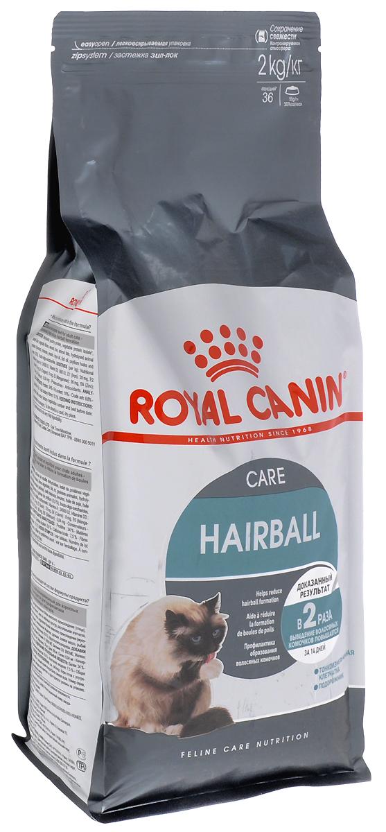 Корм сухой Royal Canin Hairball Саre, для полудлинношерстных взрослых кошек, 2 кг корм сухой royal canin mini light weight care для взрослых собак склонных к ожирению 2 кг