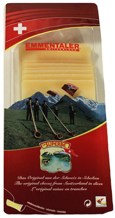 Le Superb Сыр Эмменталлер нарезка, 150 гМС-00004917Сыр, как поэма, ароматный и пряный. Подлинный швейцарский Эмментальценится во всем мире. Сильный вкус, мягкая консистенция, цвет слоновойкости или светло-желтый и наличие крупных дырок делают этот сырнеповторимым. Твердый сыр, период созревания составляет 5 месяцев.