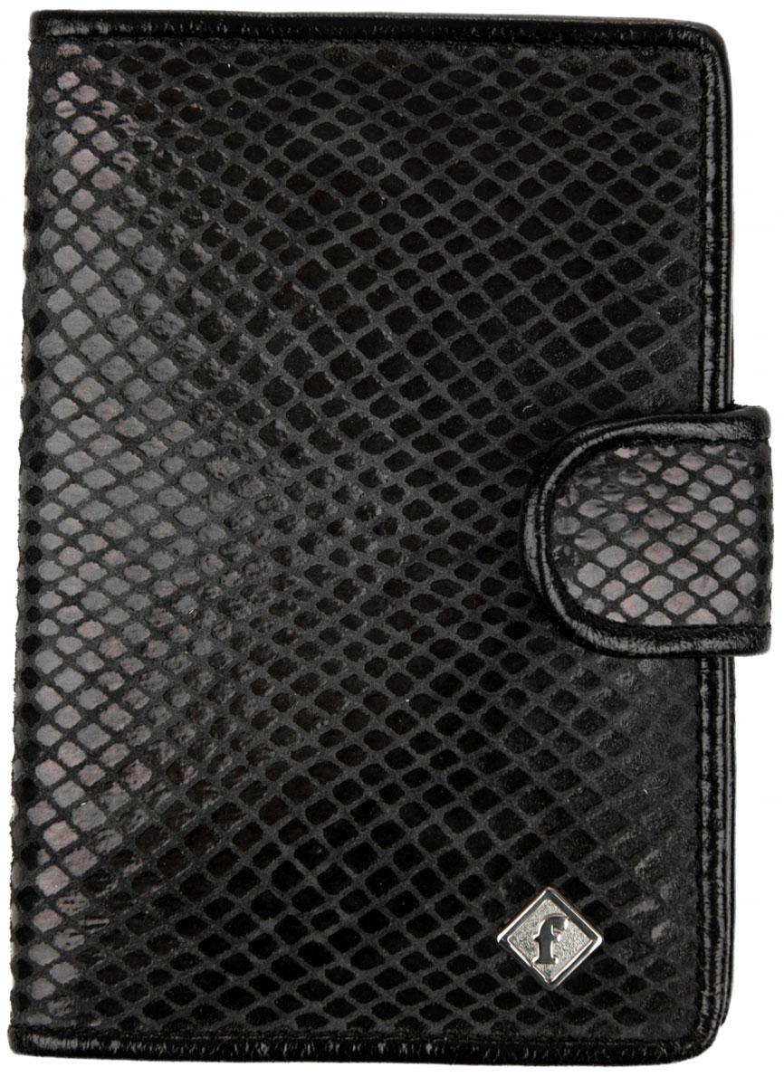 Обложка для автодокументов мужская Alliance, цвет: серый, черный. 0-5520-552 ит змея сер/чернЖенская обложка имеет внутри пластиковый вкладыш, нарезку для для кредитных карт. Закрывается на кнопку.
