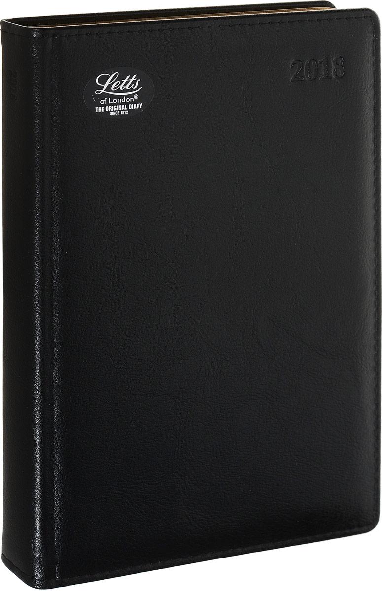 Letts Ежедневник Global Deluxe 2018 датированный 208 листов цвет черный формат А5