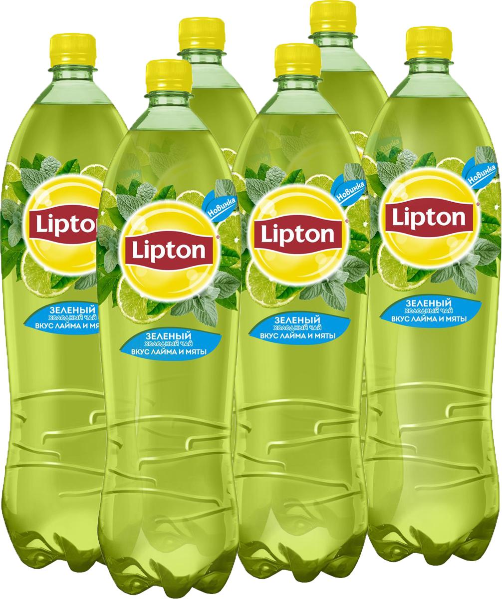 Lipton Ice Tea Лайм-Мята холодный чай, 6 штук по 1,5 л lipton ice tea лайм мята холодный чай 1 5 л