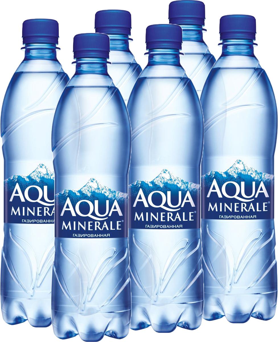 Aqua Minerale вода газированная питьевая, 12 ш т по 0,6 л340006944_блокиAqua Minerale – газированная вода с удивительно мягким вкусом.О бренде:Aqua Minerale — питьевая вода с удивительно мягким вкусом.Появившись в России в 1995 году, бренд стал одним из первых в сегменте питьевой бутилированной воды. С тех пор марка полюбилась потребителям и остается одной из самых популярных на рынке — ежедневно в России продается более 700 тысяч бутылок Aqua Minerale. Сейчас в портфеле бренда негазированная и газированная вода, линейка Aqua Minerale Active, обогащенная витаминами и минералами, а также линейка Aqua Minerale с соком, представленная в 4-х вкусах: лимон, черешня, мята-лайм, яблоко.