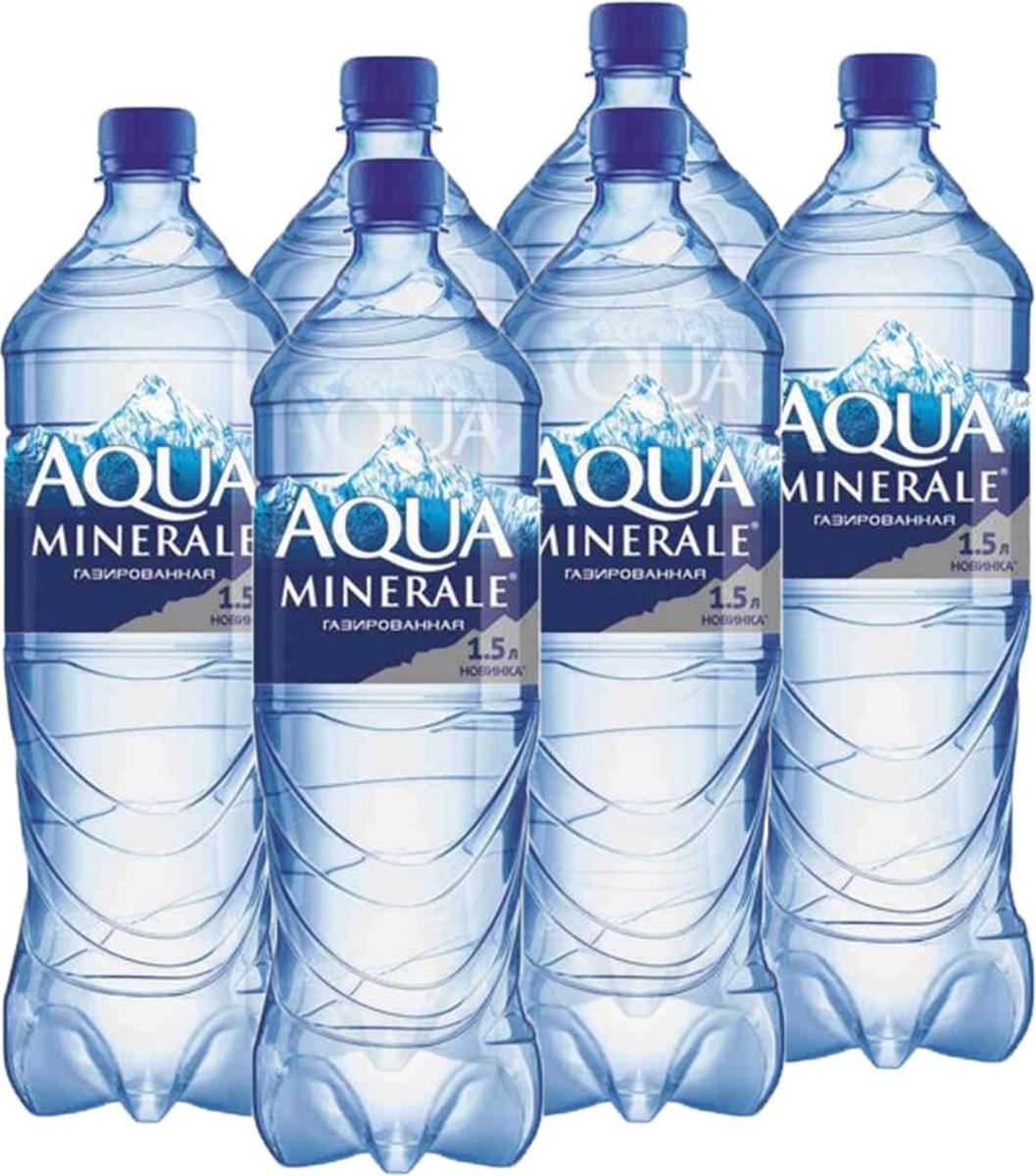 Aqua Minerale вода газированная питьевая, 6 штук по 1,5 л340026789_блокиAqua Minerale – газированная вода с удивительно мягким вкусом.О бренде:Aqua Minerale — питьевая вода с удивительно мягким вкусом.Появившись в России в 1995 году, бренд стал одним из первых в сегменте питьевой бутилированной воды. С тех пор марка полюбилась потребителям и остается одной из самых популярных на рынке — ежедневно в России продается более 700 тысяч бутылок Aqua Minerale. Сейчас в портфеле бренда негазированная и газированная вода, линейка Aqua Minerale Active, обогащенная витаминами и минералами, а также линейка Aqua Minerale с соком, представленная в 4-х вкусах: лимон, черешня, мята-лайм, яблоко.