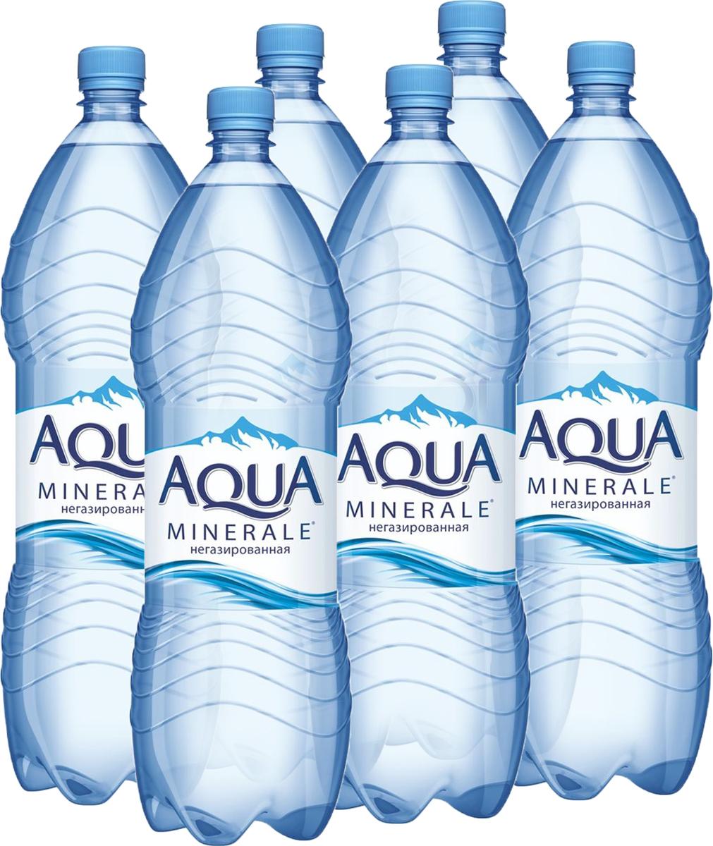 Aqua Minerale вода питьевая негазированная, 6 штук по 2 л aqua minerale вода питьевая негазированная 1 5 л