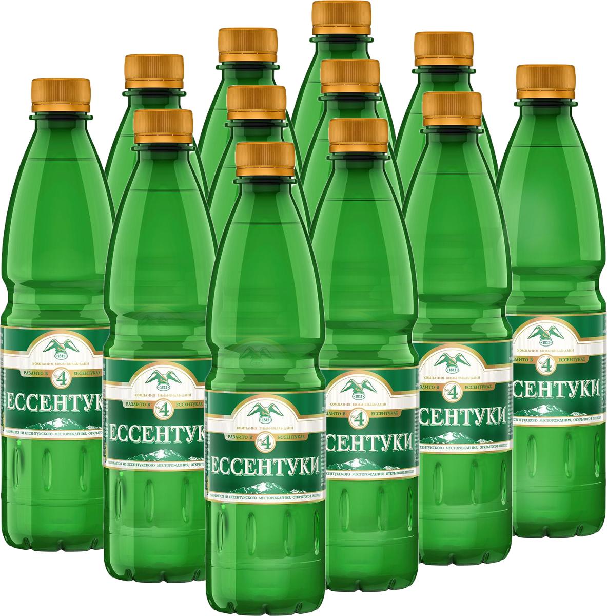 Ессентуки №4 вода минеральная природная лечебно-столовая газированная, 12 штук по 0,5 л340030694_блоки«Ессентуки №4» - минеральная природная питьевая лечебно-столовая вода. Среднеминерализованная. Группа XXVа. Хлоридно-гидрокарбонатная (гидрокарбонатно-хлоридная) натриевая, борная.ГОСТ Р 54316-2011Добывается из скважины №49-э Новоблагодарненского участка Ессентукского месторождения. Глубина скважины: 865 м. t° воды в скважине: 45 °С. Минерализация: 7 - 10 г/л. Согласно исследованиям Пятигорского НИИ курортологии, вода имеет широкий спектр благоприятного воздействия на организм, в том числе способствует улучшению обмена веществ, работы органов пищеварения, помогает нормализовать водно-солевой и кислотно-щелочной баланс. Медицинские показания к применению: • Болезни пищевода• Хронический гастрит с нормальной, пониженной и повышенной секреторной функцией желудка• Язвенная болезнь желудка и 12-перстной кишки• Болезни кишечника• Болезни печени, желчного пузыря и желчевыводящих путей• Болезни поджелудочной железы• Нарушение органов пищеварения после оперативного вмешательства по поводу язвенной болезни желудка; постхолецистэктомические синдромы• Болезни обмена веществ• Болезни мочевыводящих путейВода принимается при вышеуказанных заболеваниях только вне фазы обострения.О бренде:«Ессентуки» - легендарная лечебная вода с более чем 200-летней историей. Полезные свойства минеральной воды «Ессентуки» известны во всем мире. «Ессентукский завод минеральных вод на КМВ» уже более 100 лет разливает минеральную лечебно-столовую воду «Ессентуки №4» и минеральную лечебную воду «Ессентуки №17» и является единственным производителем и одновременно владельцем скважин с водой «Ессентуки №4» и «Ессентуки №17». Многолетняя экспертиза в розливе этой уникальной воды и контроль на всех этапах производственного процесса позволяет гарантировать высокое качество и подлинность минеральной воды «Ессентуки».