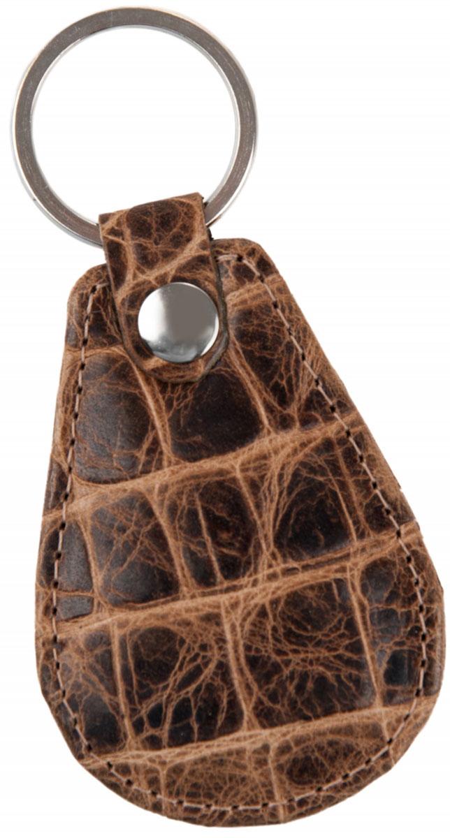 Брелок мужской Alliance, цвет: коричневый. 0-750-75 крок кэмлБрелок для ключей Alliance выполнен из натуральной кожи. Изделие оснащено металлическим кольцом.Такой брелок станет стильным дополнением к ключам.