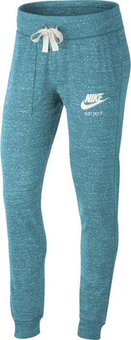Брюки спортивные женские Nike W NSW Gym Vntg Pant, цвет: голубой. 883731-449. Размер XS (40/42)883731-449Womens Nike Sportswear Vintage Pants Женские брюки Nike Sportswear Vintage — незаменимая модель гардероба, теперь еще комфортнее. Они выполнены из невероятно мягкой смесовой ткани с эластичными отворотами, которые не скрывают кроссовки. Мягкий и комфортный смесовый хлопок.