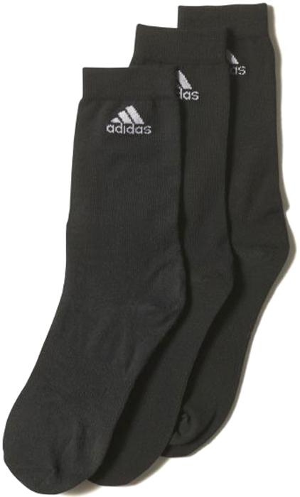 Комплект носков Adidas Per Crew T 3PP, цвет: черный. AA2330. Размер 35/38AA2330Носки Adidas Per Crew T из прочного текстиля с большим содержанием хлопка. Дополнительная поддержка стопы. Мягкая влаговыводящая ткань для максимального комфорта.
