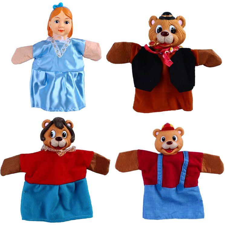 Жирафики Кукольный театр Три медведя 4 куклы - Игрушки для малышей