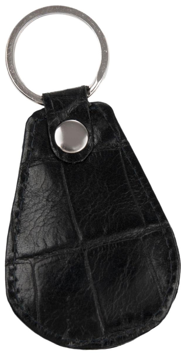 Брелок мужской Alliance, цвет: черный. 0-75Натуральная кожаБрелок для ключей Alliance выполнен из натуральной кожи. Изделие оснащено металлическим кольцом. Такой брелок станет стильным дополнением к ключам.