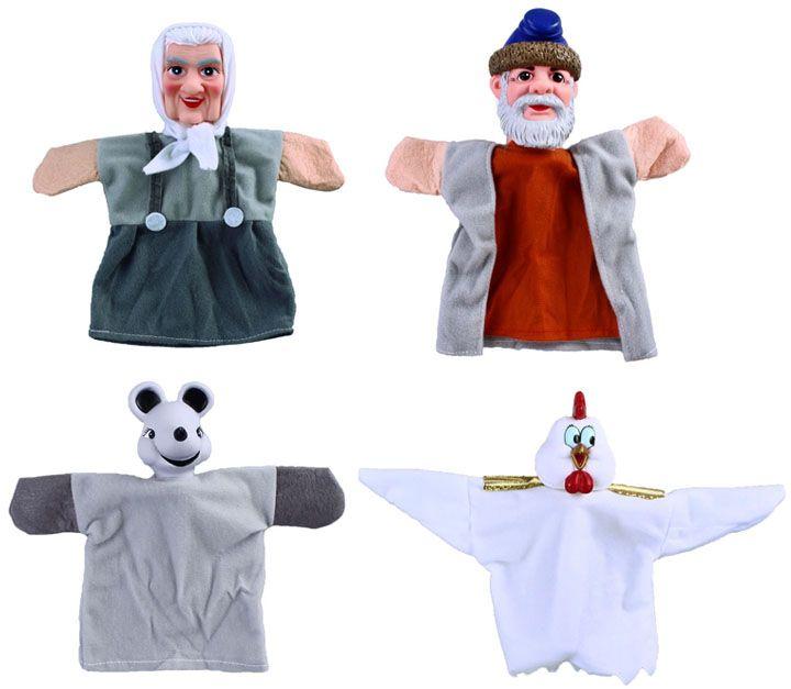 Жирафики Кукольный театр Курочка Ряба 4 куклы - Игрушки для малышей